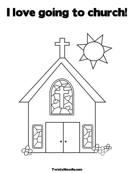 love themes for church i love going to church coloring page from twistynoodle com