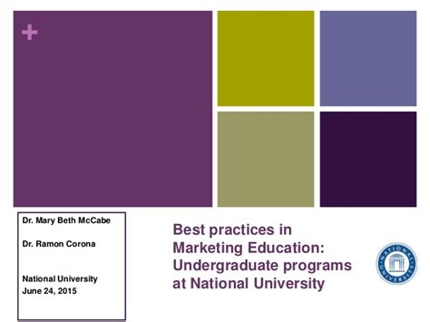 Marketing Degree Best Undergradute Degree For Mba by Best Practices In Marketing Programs