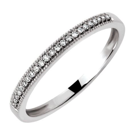 wedding band with diamonds in 10ct white gold michael hill