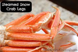 one creative housewife steamed snow crab legs