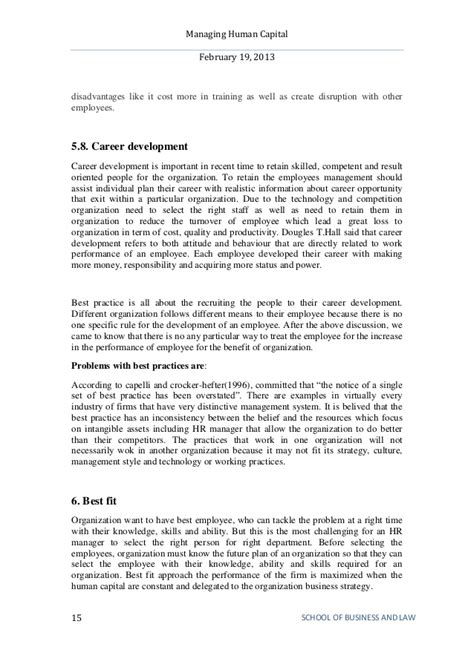 Managing Human Capital Mba Assignment by Managing Human Capital Mhc Mba 2 Semester