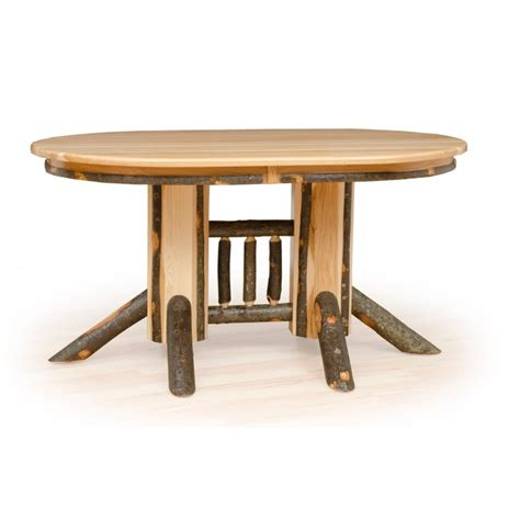 rustic oval dining table rustic hickory pedestal solid top oval dining table