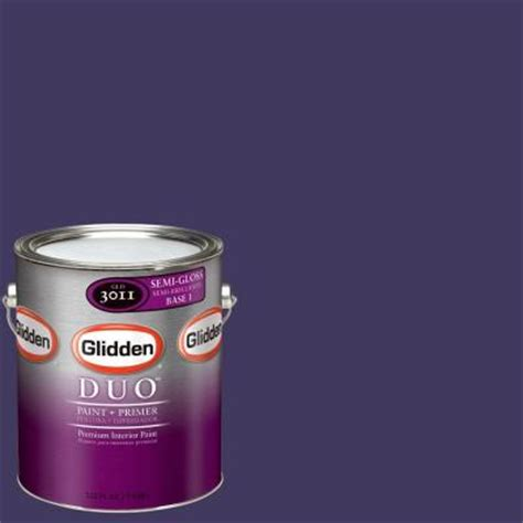 glidden team colors 1 gal nfl 167b nfl baltimore ravens purple semi gloss interior paint and
