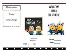 brochure template year 3 brochure template for students the third template below