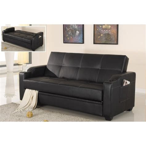 american eagle sofa w cup holder ae002 black convertible