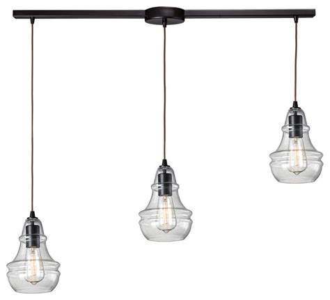 elk lighting menlow park 3 light multi pendant with linear