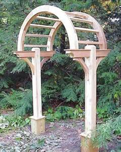 Wooden Garden Arch Kits Wooden Cedar Garden Arbor By New Woodworks