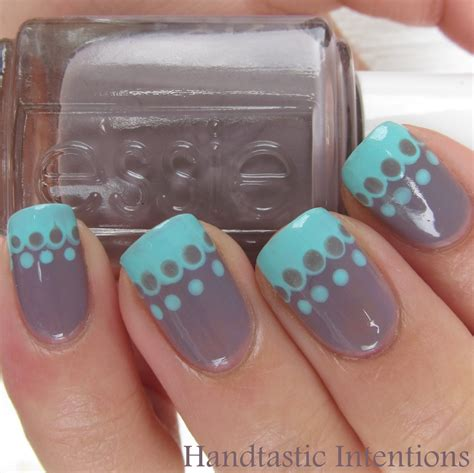 easy nail art lace handtastic intentions nail art simple lace french tip