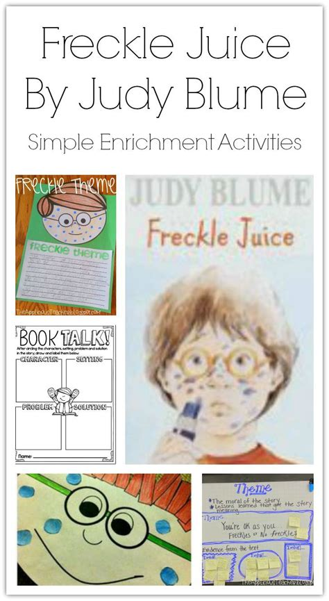 freckle juice book report simple enrichment activities for freckle juice by judy