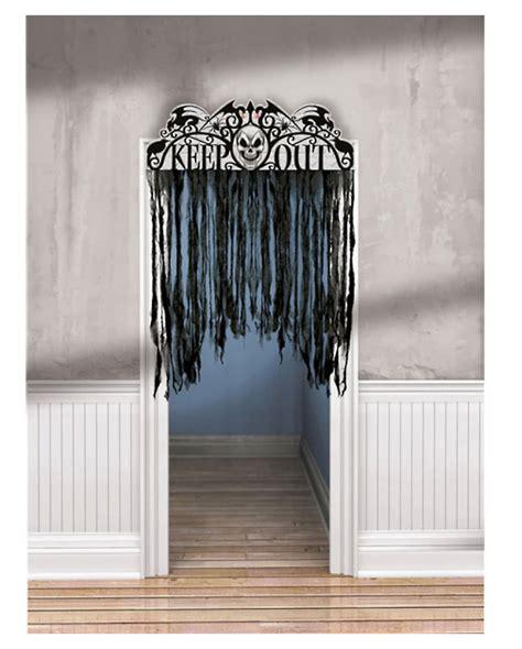 spooky curtains spooky door curtain haunted door curtain keep out warning