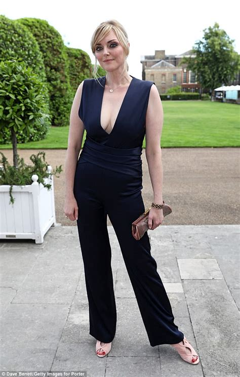 sophie dahl sophie dahl wears plunging jumpsuit at save the elephants