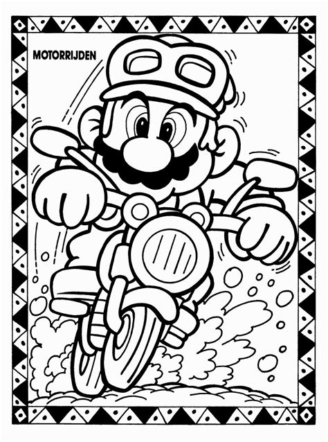 8 Bit Mario Coloring Pages by 8 Bit Mario Coloring Pages Coloring Pages