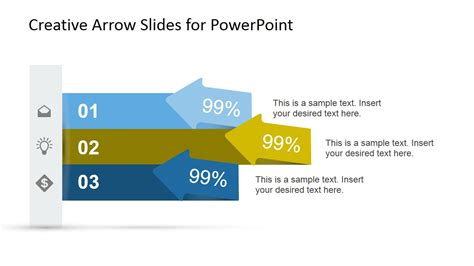 creative arrow slides template for powerpoint slidemodel