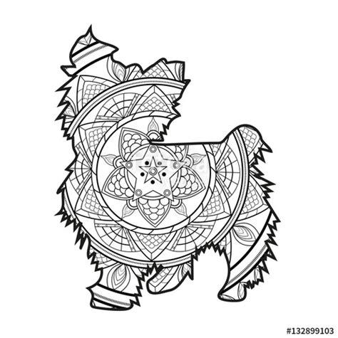 dog mandala coloring page quot vector illustration of a mandala dog for coloring book