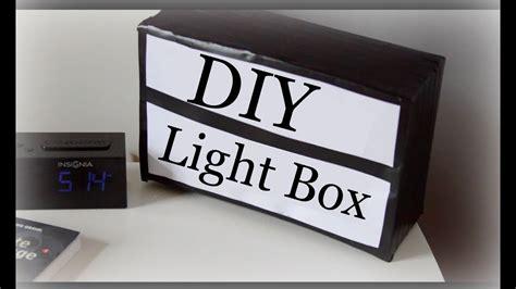 Diy Light Box Sign