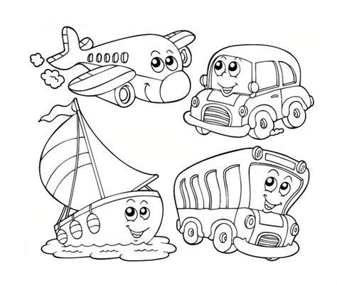 transportation coloring pages for kindergarten kindergarten kids learn about transportation coloring page