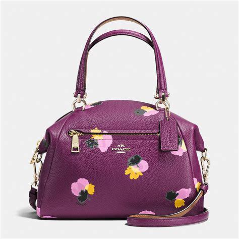 Coach Flowery nwt coach 37159 coach prairie satchel purse floral print leather purple plum bag ebay