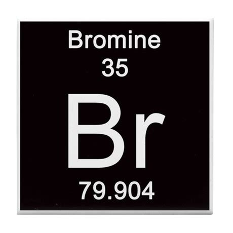 Periodic Table Br by Periodic Table Bromine Tile Coaster By Science Lady