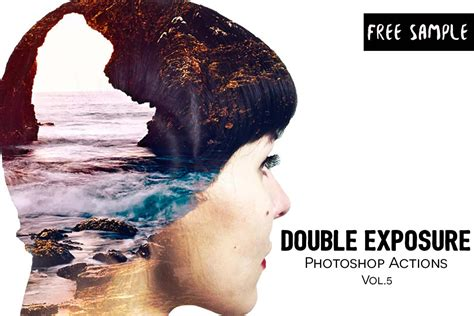 double exposure action tutorial free double exposure photoshop actions vol 5 creativetacos