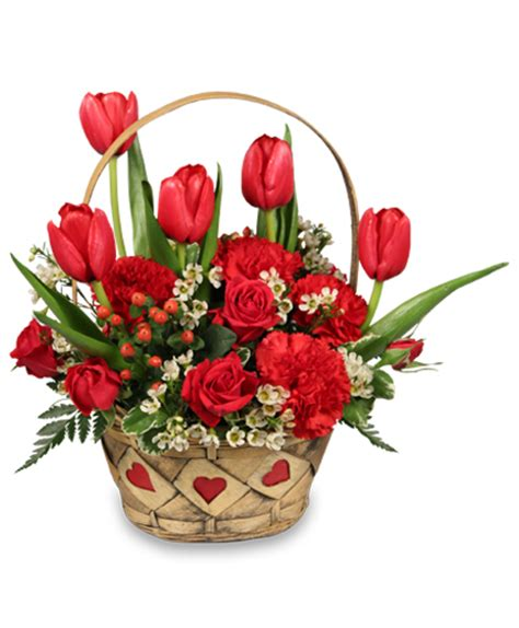 valentine s day flower arrangements sweet love basket arrangement valentine s day flower