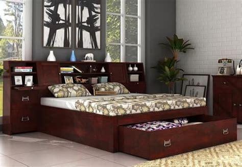 online bed double beds buy wooden double bed online upto 60 off