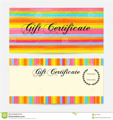 Graphicriver Gift Card Template by Gift Certificate Voucher Coupon Gift Money Bonus Gift