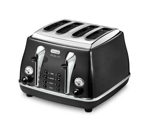 Black 4 Toaster Buy Delonghi Micalite Ctom4003 4 Slice Toaster Black
