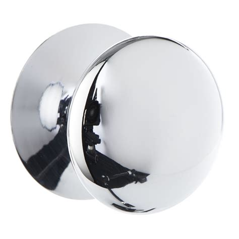 wilko door knob chrome button 38mm at wilko