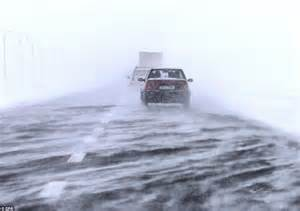 driving in conditions europe weather rivers lakes and even seas are iced