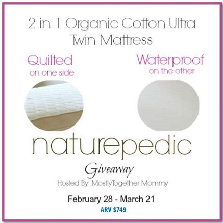 Mattress Giveaway - naturepedic mattress giveaway the night owl mama