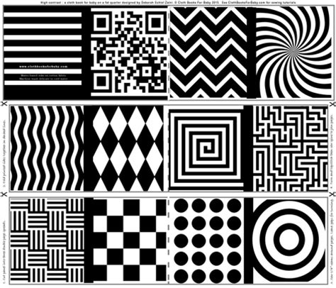 black and white pattern books for babies high contrast abstract shapes for baby fabric debsch