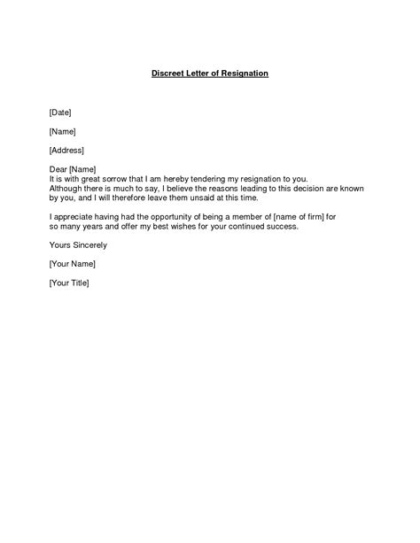 Positive Letter Of Resignation by Resignation Letter Format Best Resignation Letters Exles Great Sorrow Resignation