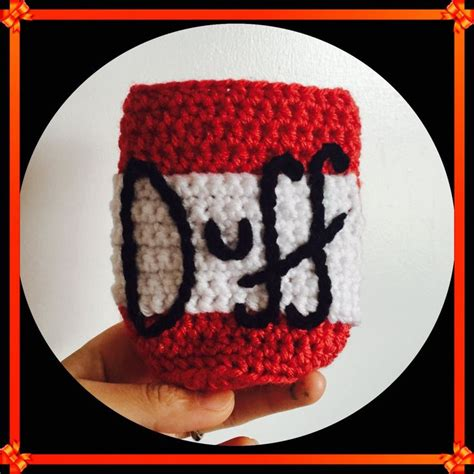 Darwin Coffee Sepatu Kulit Moccasin the simpsons duff coozy free crochet pattern by annaweee crochet all the things