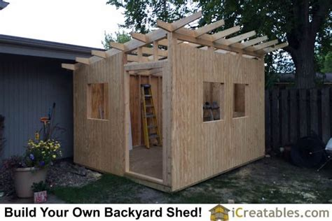 build  shed roof icreatables woodworking tips