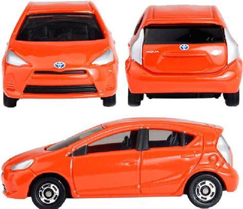 Tomica No 98 Toyota Aqua orange 1 59 scale tomy no 98 diecast toyota aqua