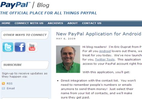 paypal for android android applications emerging as a threat to the iphone application webgranth