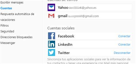 yahoo mail layout change 2015 configuracion redes sociales en tu correo iniciar sesion