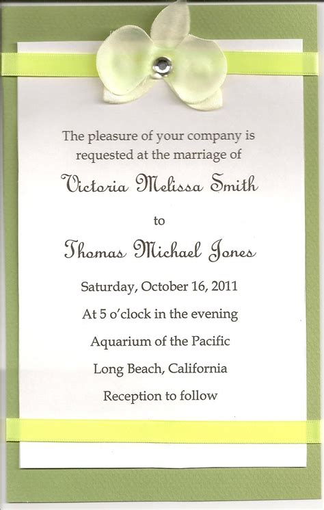 A Wedding Invitation by Diy Wedding Invitations Simple Wedding Invitations Using