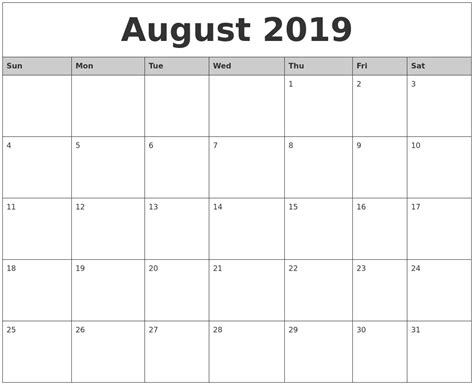 The August Deadline For The Whole Work Situation L by June 2019 Printable Calendar 2018 Calendar Printable