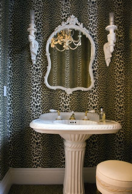 home    wallpapered powder room