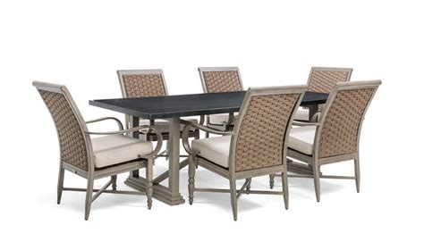 Outdoor Dining Set Blue Saylor 7 Dining Set Blue Oak Outdoor By