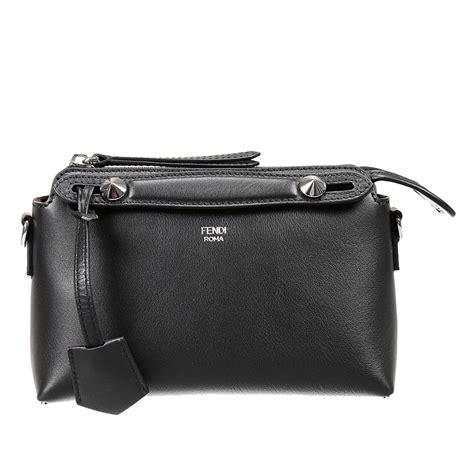 Fendi By The Way Tricolour Micro Edition7002 fendi handbag by the way mini leather in black lyst