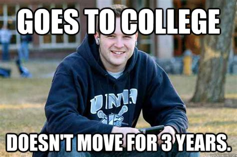 goes to college doesn t move for 3 years successful