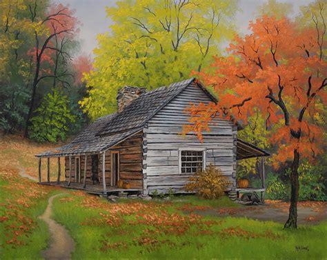 Australian Home Decor Blogs by Appalachian Retreat Autumn Painting By Kyle Wood