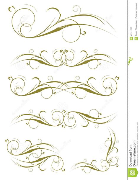 exquisite ornamental and page decoration designs stock