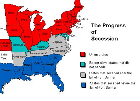 map of united states during civil war civil war causes maps