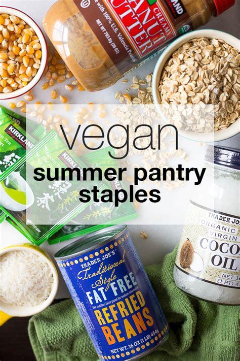 9 vegan pantry staples for summer fooduzzi