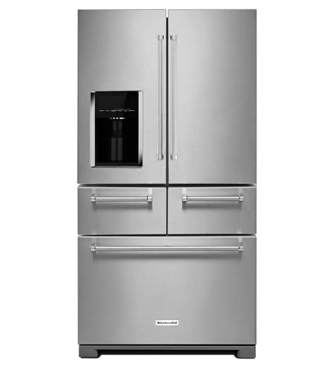 kitchen aid appliance reviews 25 8 cu ft 36 quot multi door freestanding refrigerator with