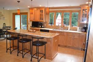 Birch Kitchen Island Dazzling Brown Granite Look Other Metro Traditional Kitchen Decorators With Cabico Cabinets