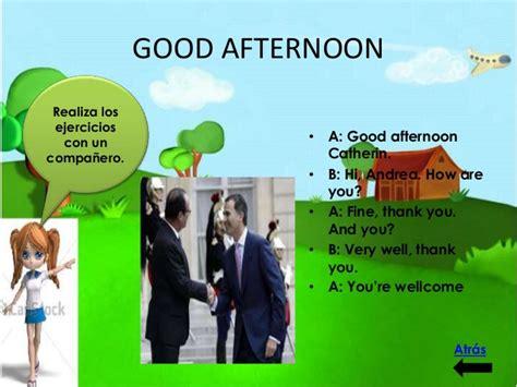 imagenes en ingles good afternoon greetins clase de ingles para estudiantes de 3 4 de primaria